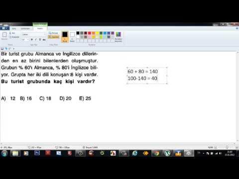 Lise 1 / 9 Sınıf Matematik Soru Çözümleri '' Kümeler ''