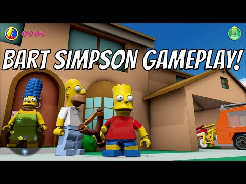 LEGO Dimensions - Bart Simpson Free Roam Gameplay on The Simpsons World