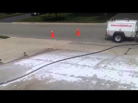 Removing Battery Acid Stain Amp Sealer On Patterned Concrete
