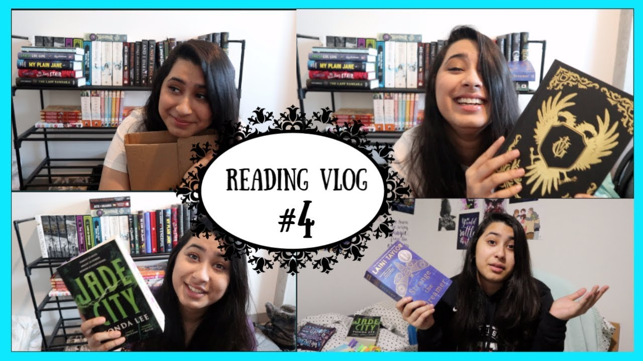 COME BOOK SHOPPING + STRANGE THE DREAMER | Booktube Games Reading Vlog #4: 1st - 6th February, 2019