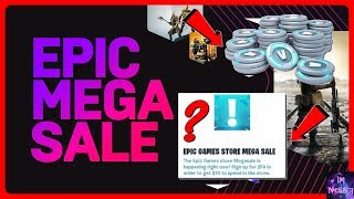 *NEW* Epic Games Store MEGA SALE Out RIGHT NOW! (Free Bucks?) EXPLAINED | Fortnite Battle Royale