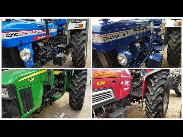 POWERTRAC 439 DS,JOHN DEERE 5204,FARMTRAC CHAMPION,ARJUN 605,Tractor Mela,#285,