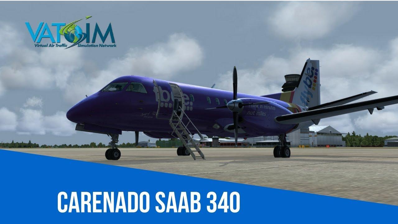 [VATSIM Flight] Flybe - Manchester to Knock [Carenado Saab 340] [P3Dv4]  Live Stream 26/04/2018