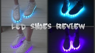 ASMR: LED shoes review~soft spoken