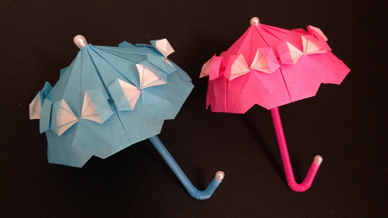 origami umbrella with frill�parasol�instructions ���������