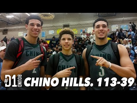 LONZO BALL DUNK FEST!! Chino Hills (113-39) vs Los Osos: Official #D1Bound Game Mixtape