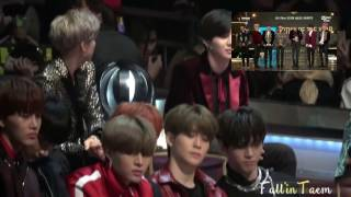"2016 MAMA TAEMIN (SHINee), Bambam and NCT – REACTION to BTS ""Artist of the year"" Full"