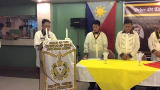 Processional of Officers of the Knights of Rizal