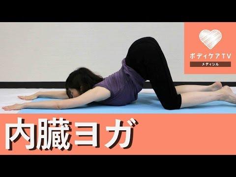 内臓機能促進のヨガ♡ネコの背伸びポーズ