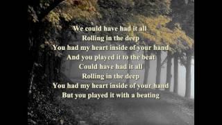 Adele Roling in the deep lyric