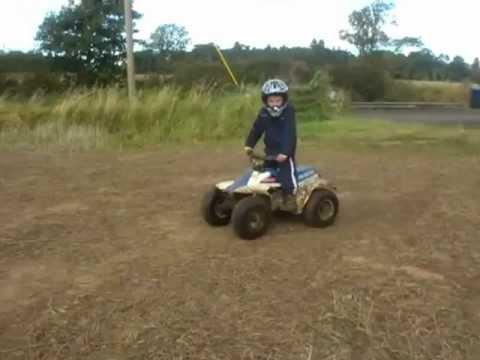 Jacks on his suzuki lt 50 atv quad - YouTube