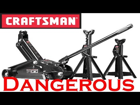 CRAFTSMAN 2 1/4 Ton Jack and Jack Stand Combo.  DO NOT BUY!