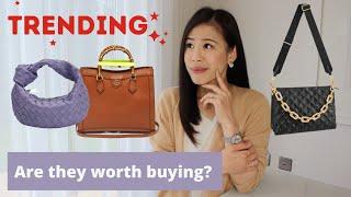 Trending Luxury Bags Worth Buying?| Coussine Bottega Jodie Fendi clutch YSL Balenciaga designer