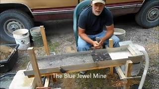 Sluicing The Gold From The Blue Jewel Mine Tailings