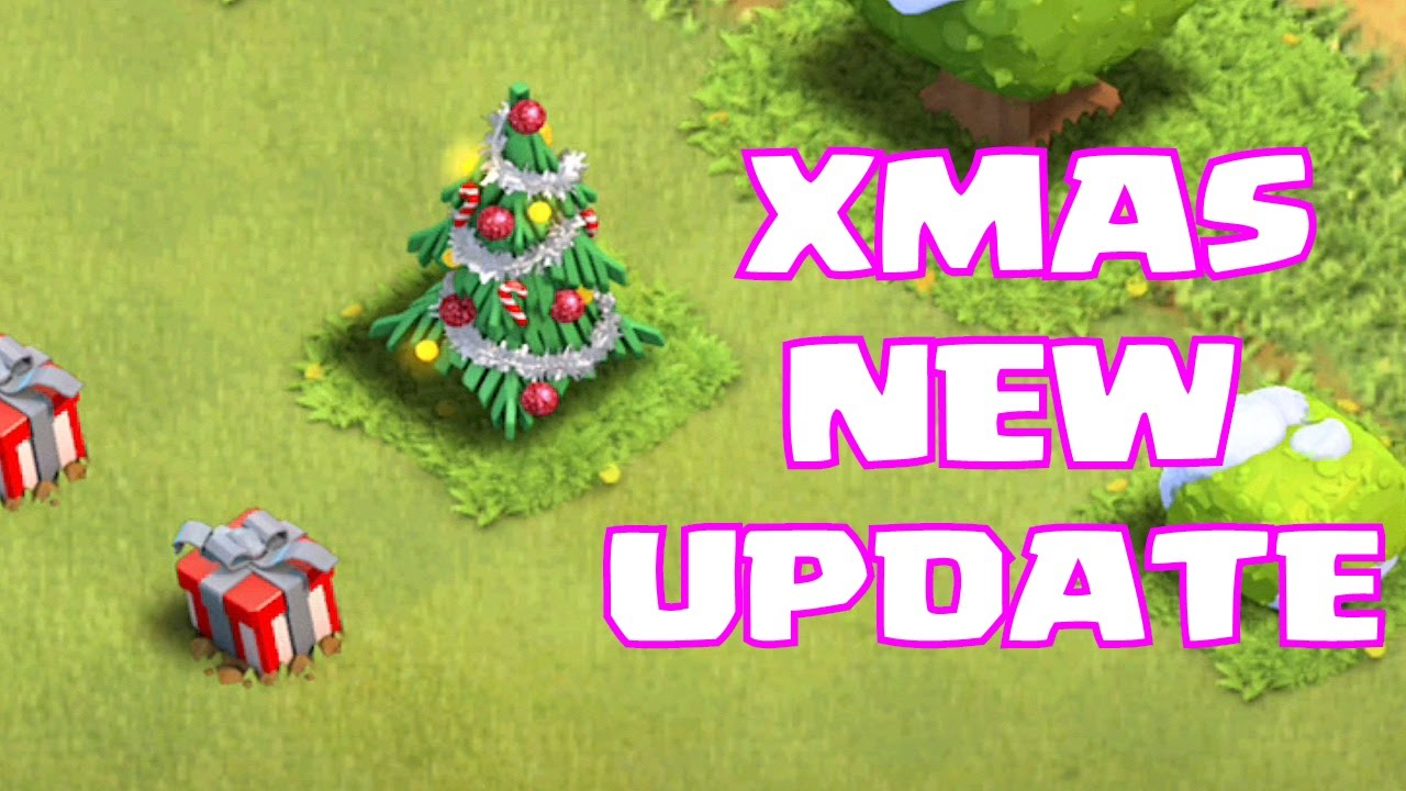 Clash of clans NEW XMAS UPDATE (trees w/ gifts now) - YouTube