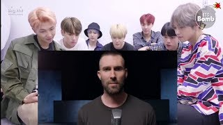 BTS reaction to Maroon 5 girl like you mv