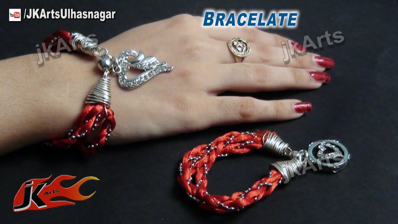 diy how to make bracelet valentines day gift idea jk arts 489 youtube - Valentines Day Bracelet