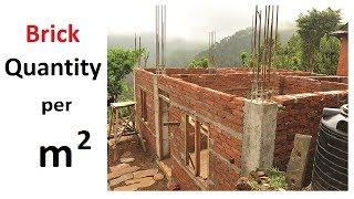 How to calculate Quantity of Bricks per meter square