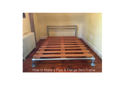 How To Make A Pipe Flange Bed Frame Youtube