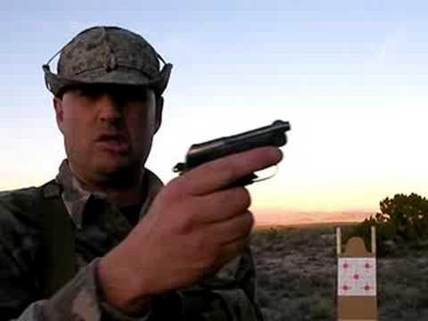 Shooting Beretta 950 Jetfire:  Mag Dump