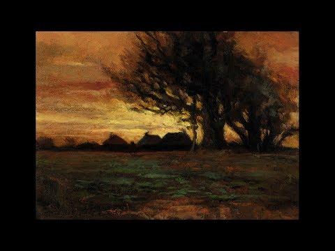 Study after Charles Dewey – Landscape Tonalist Landscape Oil Painting