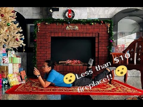 DIY Fireplace for less than $10!!