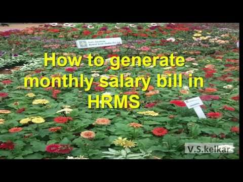 Salary bill generation in HRMS Karnataka