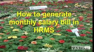 Monthly salary bill generation in hrrms software