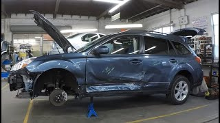 2014 Subaru Outback Collision Repair Time Lapse
