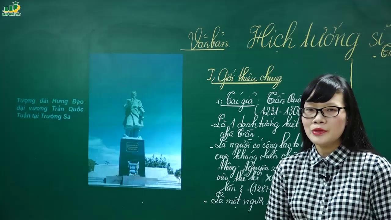 Ngữ Văn Lớp 8 – Bài giảng Hịch tướng sĩ ngữ văn lớp 8-Trần Quốc Tuấn tức Trần Hưng Đạo| Cô Lê Hạnh