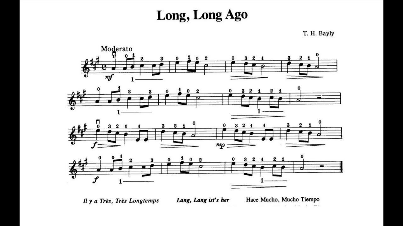 Violin Suzuki Book  Long Long Ago