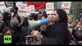 Uk: Russell Brand Fights Against New Era Estate Eviction Plan