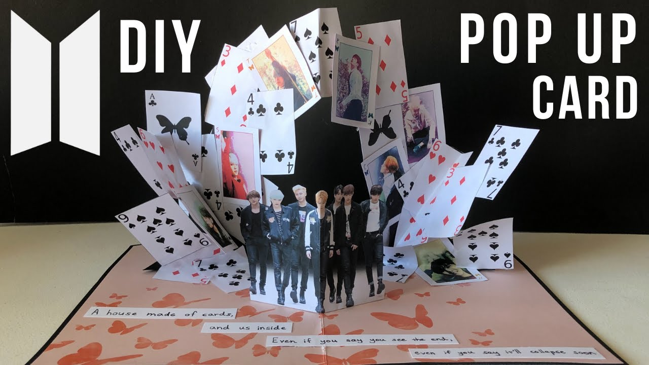 DIY BTS House of Cards Inspired Pop Up Card