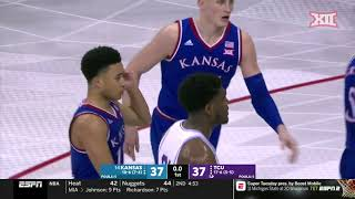 Kansas vs TCU Men's Basketball Highlights