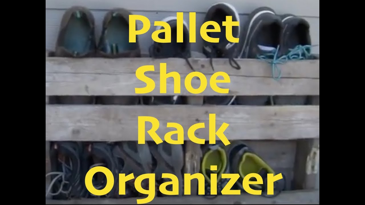 diy pallet shoe rack organizer youtube. Black Bedroom Furniture Sets. Home Design Ideas