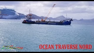 Dredger OCEAN TRAVERSE NORD in St. Kitts, seen from a local ferry to Nevis !!