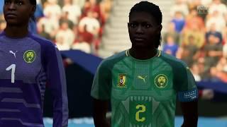 Coupe Du Monde Féminine 2019 Groupe E Pays Bas  VS Cameroun 15 Juin 2019 Sur Fifa 19