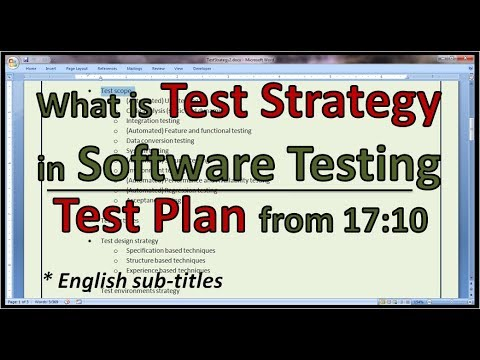 Example Agile Test Strategy, Agile Test Plan