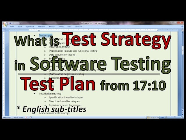 Example Agile Test Strategy  Agile Test Plan - YouTube