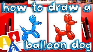 How To Draw A Dog Balloon Animal