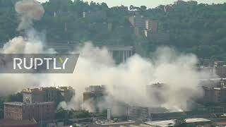 Italy: Explosive experts blow up remainder of collapsed Genoa bridge