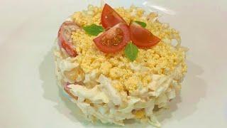 Салат с капустой томатами кукурузой и сыром