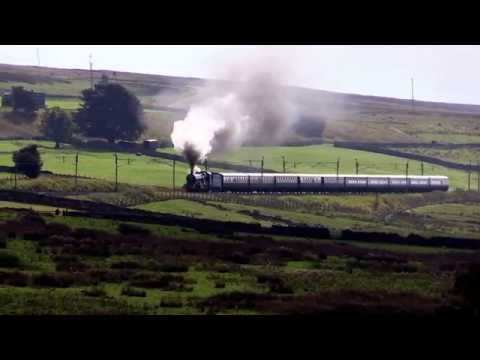 5043 EOME hammers up Shap with the Coastal Express 19.9.15