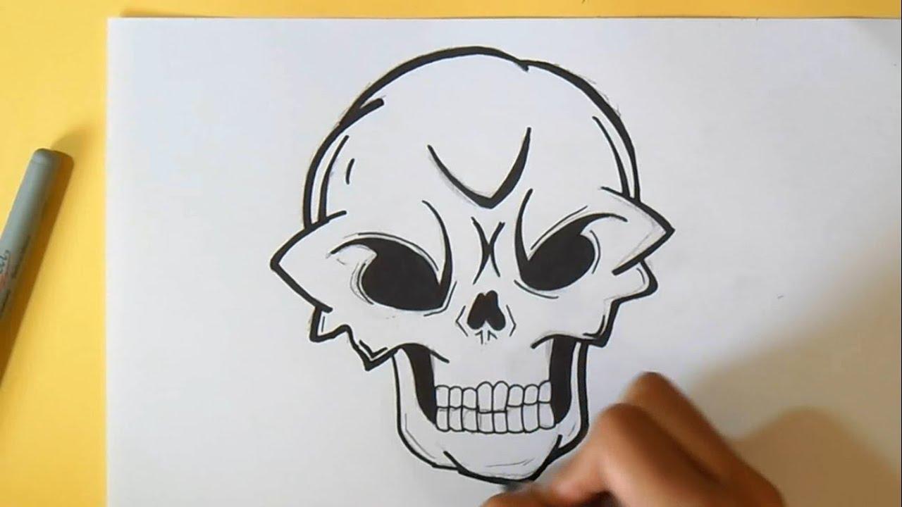 como desenhar uma caveira # 2 Wizard art by grafite