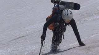 春の針ノ木大雪渓を有頂天になって滑る  バックカントリースキー backcountry skiing:Mt.Harinoki