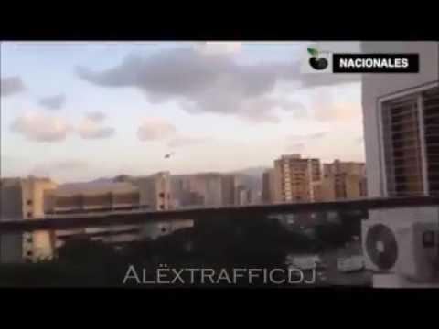 Helicoptero bombardea TSJ Caracas Venezuela