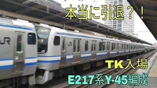 【本当にTK解体するなのか?!】E217系Y-45編成 総武快速線 東京行