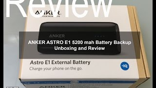 Anker Astro E1 5200mAh Ultra Compact Portable Charger: Review and Unboxing