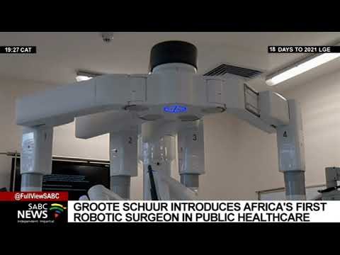 Groote Schuur Hospital in Cape Town unveils Africa's first Da Vinci X-i surgical robot