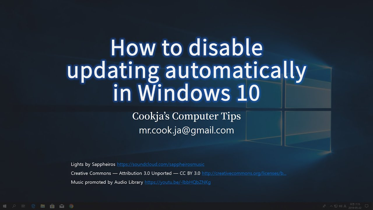 How to disable updating automatically in Windows 10